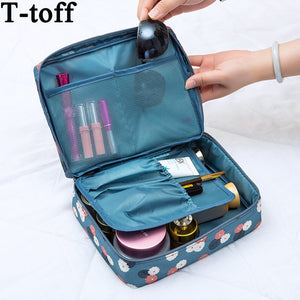 Women Makeup Floral Nylon Bag