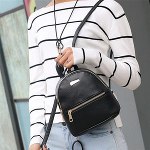 Mini Backpack Leather Satchel