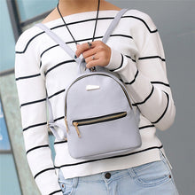 Load image into Gallery viewer, Mini Backpack Leather Satchel
