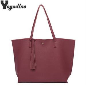 Leather Casual Tassel Handbags