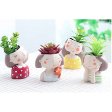 Load image into Gallery viewer, Mini Cute Girl Planter
