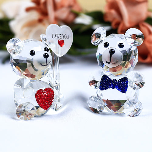 Cute Bear Crystal Figurine