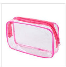 Load image into Gallery viewer, Transparent Clear Zipper Makeup Bags