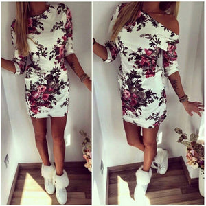 Summer 3D Small Red Flower Mini Dress