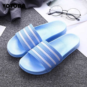 Flip Flops Striped Slippers
