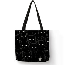 Load image into Gallery viewer, Cat Print Tote Bag