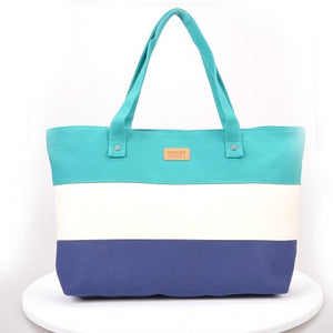Ladies Canvas Big Beach Shoulder Bag