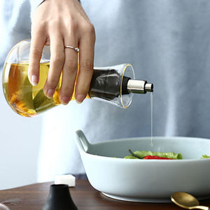 Glass Cruet Olive Oil Bottle