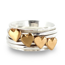 Load image into Gallery viewer, Design your own spinning heart ring