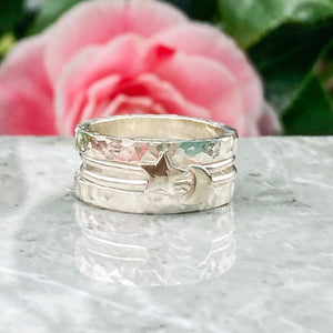 To the moon and back stacking rings