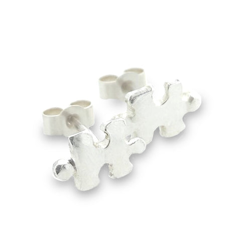 A Piece Of Me, jigsaw piece earrings