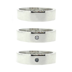Chunky personalised man's ring. Solid silver with optional diamond