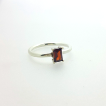 Load image into Gallery viewer, Hepburn in red. A stunning red garnet set in solid white gold.