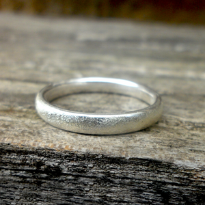 Sterling silver ring set with diamond