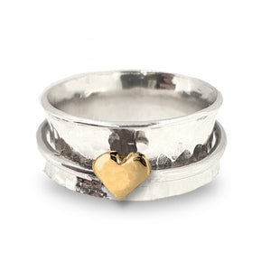 Design your own spinning heart ring
