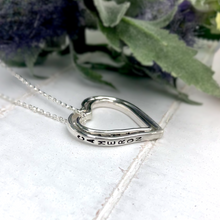 Load image into Gallery viewer, Family of hearts necklace. Three personalised hearts.