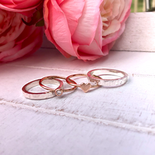 Load image into Gallery viewer, 'Eternal Love' stacking set. Gold, silver and diamond rings