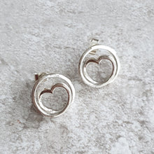 Load image into Gallery viewer, Infinite love spiral earrings