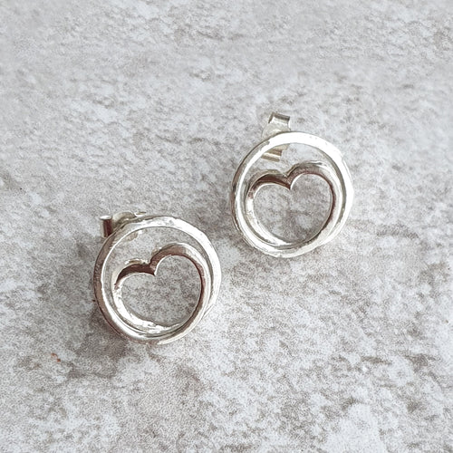 Infinite love spiral earrings
