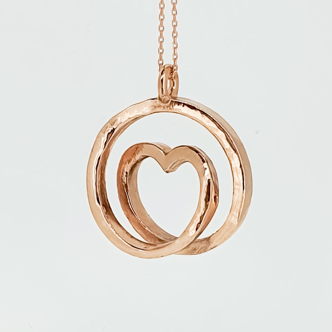Infinite love - Solid gold spiral necklace