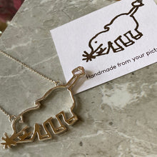 Load image into Gallery viewer, Solid silver doodle or child's drawing necklace