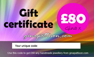 Gift Certificates - Give the gift of Gina Pattison :-)