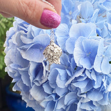 Load image into Gallery viewer, Solid silver hydrangea necklace