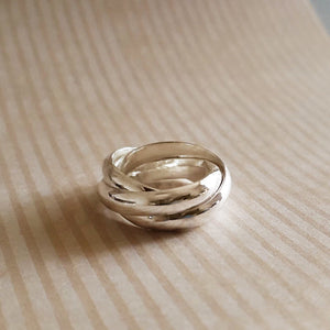 Solid silver Russian wedding ring