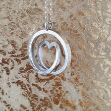 Load image into Gallery viewer, Infinite love - Sterling silver spiral necklace