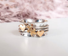 Load image into Gallery viewer, A Piece Of Me, jigsaw puzzle piece ring with two extra hearts