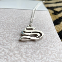 Load image into Gallery viewer, Solid silver letter necklace