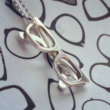 Load image into Gallery viewer, Solid silver spectacles pendant - necklace
