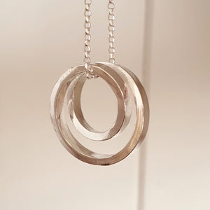 Infinity - Sterling silver spiral necklace