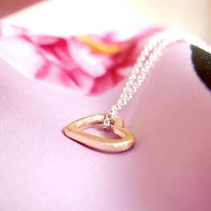 Solid gold sweetheart necklace