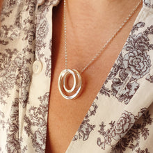 Load image into Gallery viewer, Infinity - Sterling silver spiral necklace