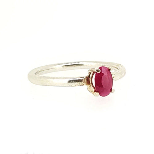 Hepburn in pink. A pretty ruby set in solid white gold.