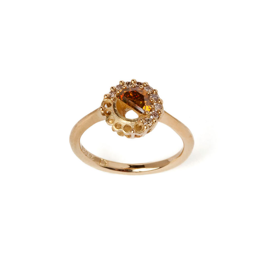 """Fix"" half diamond ring - Tinsel Gallery"