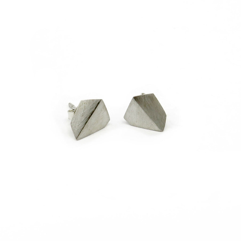 Folded geometric shape studs - Tinsel Gallery