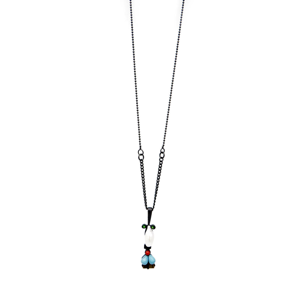 """Meneer' (mister) pendant on chain - Tinsel Gallery"