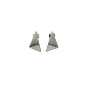 Folded triangle drop studs - Tinsel Gallery