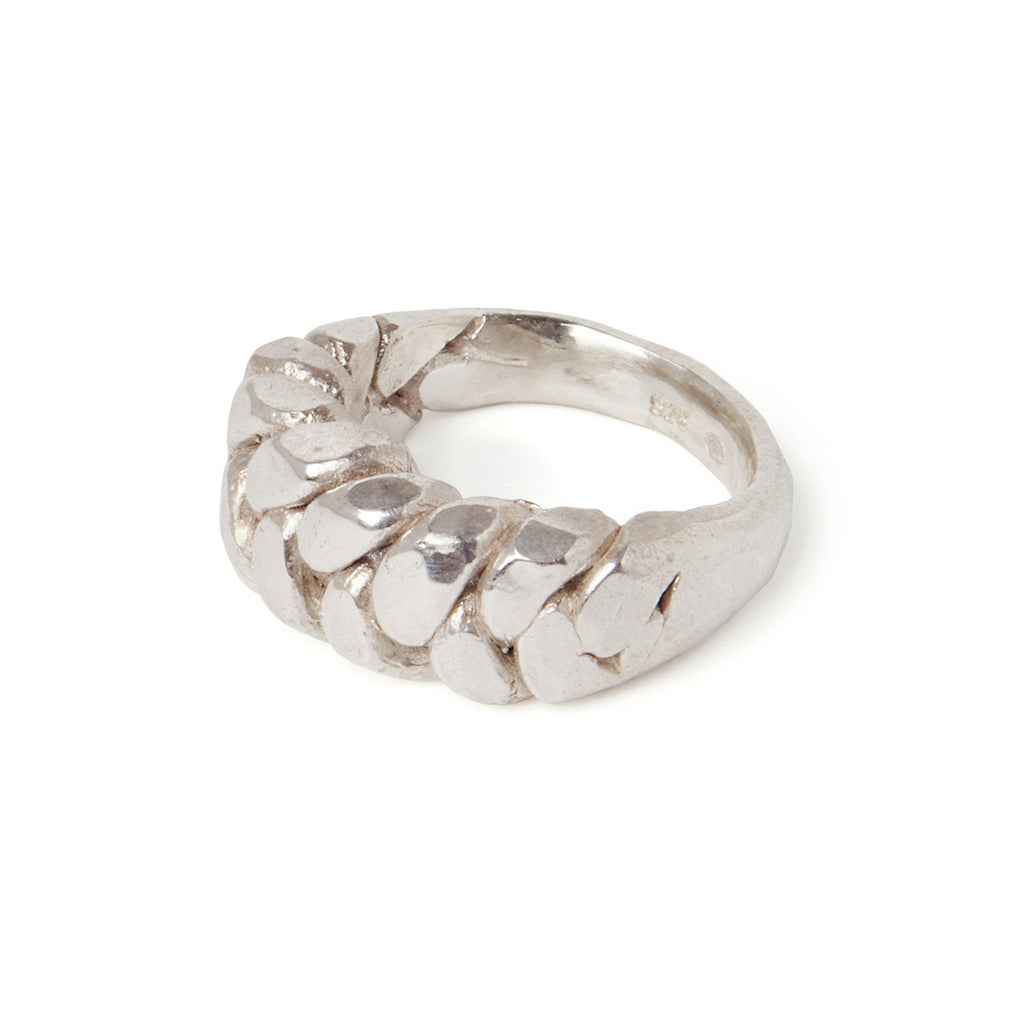 Silver plaited ring - Tinsel Gallery