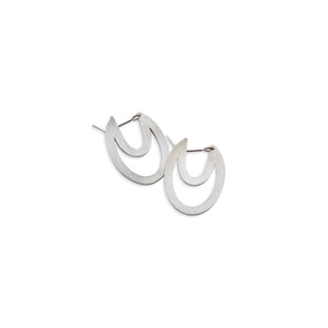 Oval outline side earrings by Nicky Savage