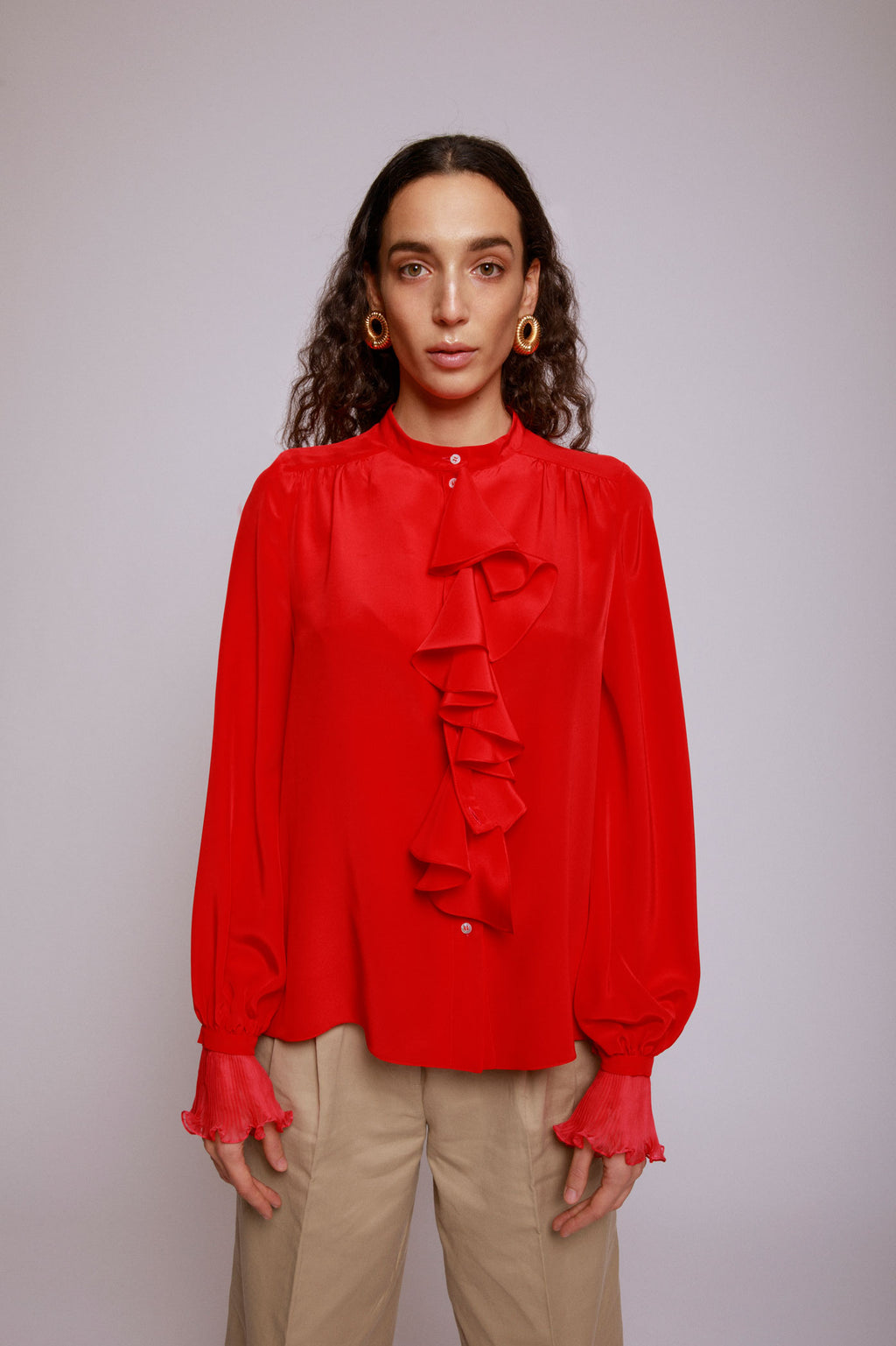 BUILD ME UP SHIRT - ORCHIDEA RED