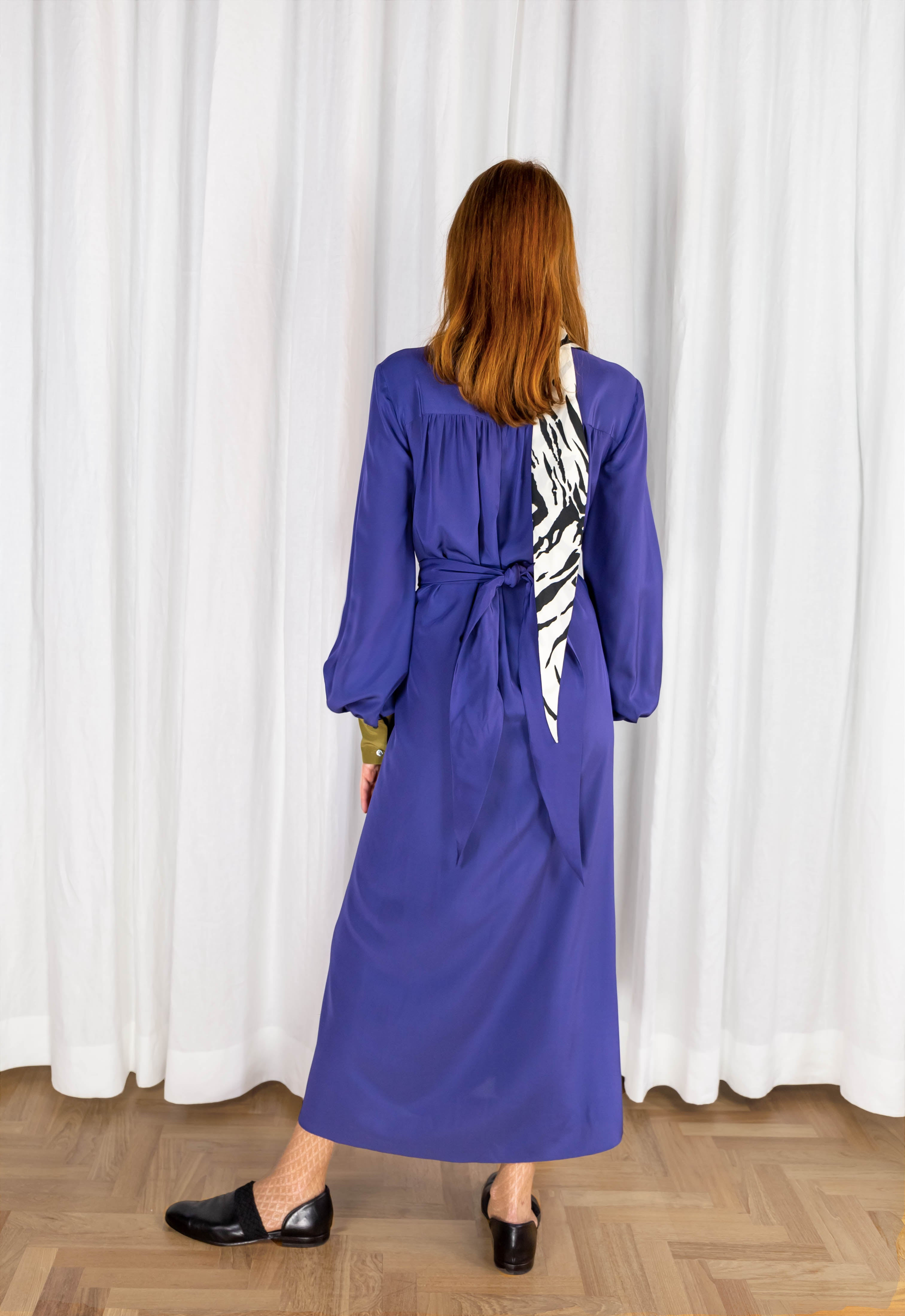 CABRIOLET MIDI DRESS - ORCHIDEA BLU VIOLET