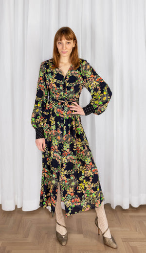 OOPSY DAISY MIDI DRESS - JAPANESE GARDEN