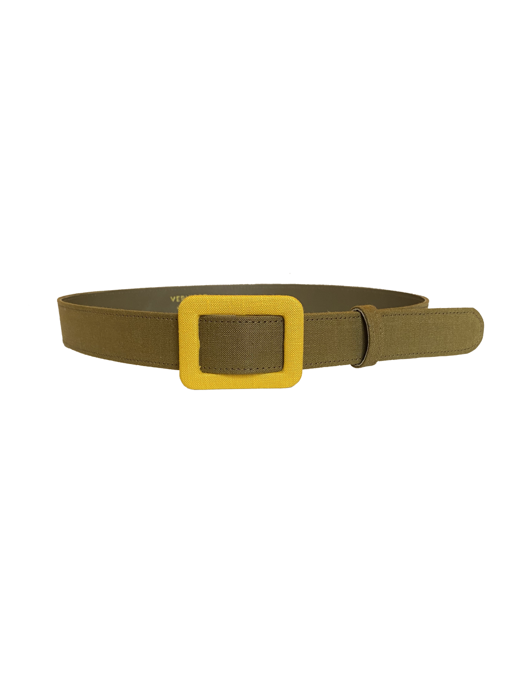 DENIM BELT - KHAKI & YELLOW