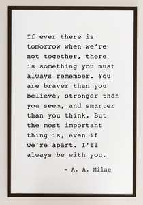 I'll Always Be With You- A.A. Milne Wood Sign