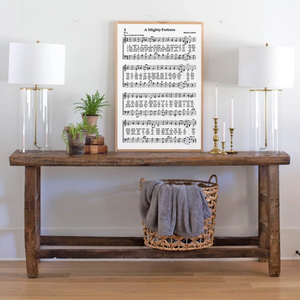 A Mighty Fortress Sheet Music Wood Sign