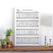 Load image into Gallery viewer, America the Beautiful Sheet Music Wood Sign
