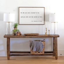 Load image into Gallery viewer, Be who you were created to be quote wood sign